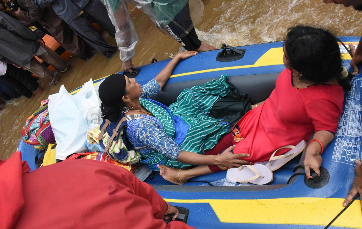Kochi: Rescue operations underway in Kochi, Kerala on Aug 18, 2018. (Photo: IANS) by .