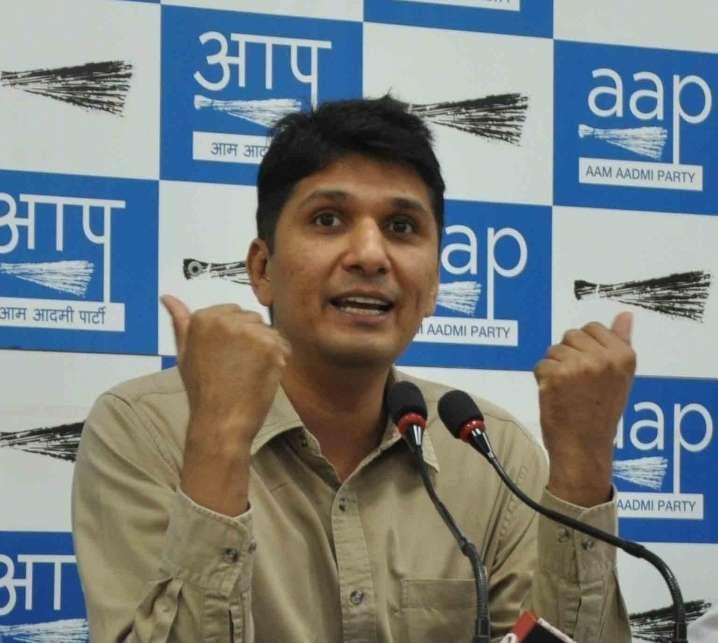AAP chief spokesperson Saurabh Bharadwaj. (File Photo: IANS) by .