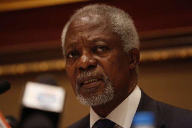Former UN Secretary-General and Nobel Peace Prize winner Kofi Annan. (File Photo: XINHUA/IANS) by .
