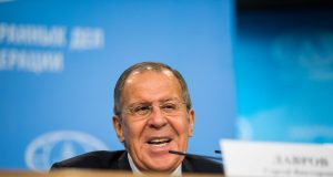 RUSSIA-MOSCOW-ANNUAL PRESS CONFERENCE-LAVROV by .