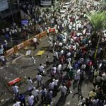 Chennai: DMK workers resort to violence after Tamil Nadu government declined party's request to allot space for burying the mortal remains of former Chief Minister M. Karunanidhi near party founder C.N. Annadurai's memorial at the Marina Beach in Chennai on Aug 7, 2018. The party filed an urgent petition before acting Chief Justice of Madras High Court Kuluvadi Ramesh to press for a burial place on the Marina. The government decision drew flak from opposition leaaders including MDMK's Vaiko, DMDK's Vijayakanth and PMK's S. Ramadoss who favoured a memorial on the Marina. Congress leader Ghulam Nabi Azad and the CPI(M) also joined the chorus. (Photo: IANS) by .