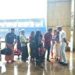 Kochi: People airlifted from various flood-affected areas of Kerala being housed at relief camp setup at Aircraft Hanger, INS Garuda, Kochi on Aug 16, 2018. (Photo: IANS/DPRO) by .