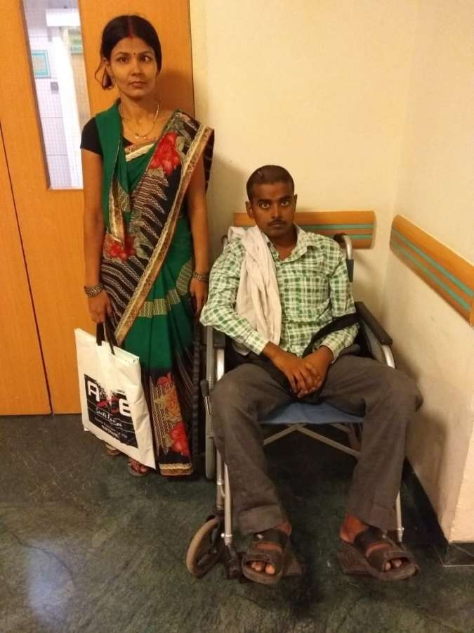 Rambabu with his sister-in-law, Rukmani Devi at Max Hospital. by .