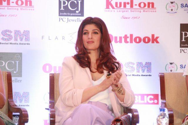 Mumbai: Actress Twinkle Khanna during a press conference regarding Outlook Social Media Awards in Mumbai, on April 9, 2018. (Photo: IANS) by .