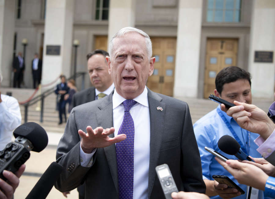 U.S.-VIRGINIA-THE PENTAGON-MATTIS-BRITAIN-DEFENSE SECRETARY-MEETING by .