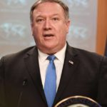 WASHINGTON, Aug. 16, 2018 (Xinhua) -- U.S. Secretary of State Mike Pompeo speaks during a press briefing in Washington D.C., the United States, Aug. 16, 2018. U.S. State Department on Thursday announced the creation of the Iran Action Group (IAG) to execute the administration's Iran strategy and pressure the country to change its behaviors. (Xinhua/Liu Jie/IANS) by .
