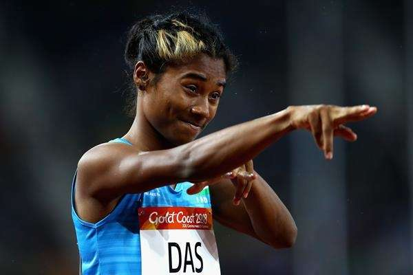 Hima Das, who created history by becoming the first Indian athlete to win a gold at an IAAF event. (Photo: Twitter/@iaaforg) by .