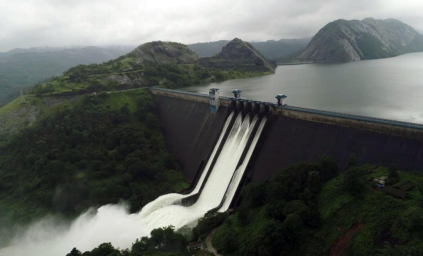 Idukki (Kerala): A view of the Idukki dam on Aug. 10, 2018. (Photo: IANS) by .