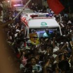 Chennai: The mortal remains of DMK President M. Karunanidhi being taken to his his home at Gopalapuram in Chennai on Aug 7, 2018. (Photo: IANS) by .