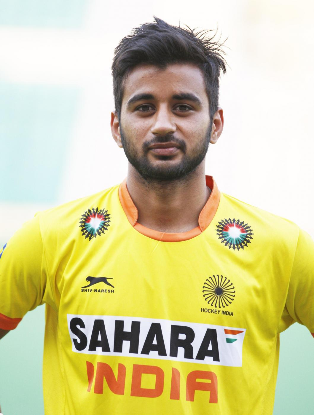 Manpreet Singh who was selected in the Indian Men Hockey Team for upcoming Hockey World Cup 2014 which is scheduled to begin on 31st May 2014 in The Hague, Netherlands. (Photo: IANS) by .