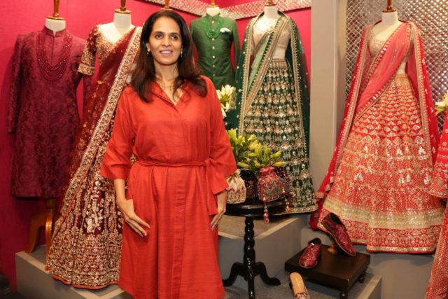 New Delhi: Fashion designer Anita Dongre at sixth edition of Vogue Wedding Show 2018 in New Delhi, on Aug 3, 2018. (Photo: Amlan Paliwal/IANS) by .