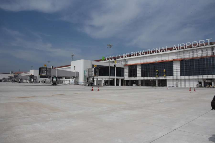 Kochi: A view of the new international terminal at Cochin International Airport that is set to be inaugurated soon. The terminal can operate 12 aircrafts simultaneously. (Photo: IANS) by .