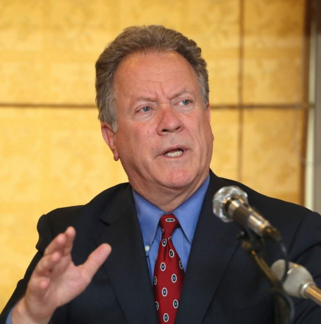 Seoul: David Beasley, chief of the World Food Programme (WFP), speaks during a press conference in Seoul on May 15, 2018. (Yonhap/IANS) by .