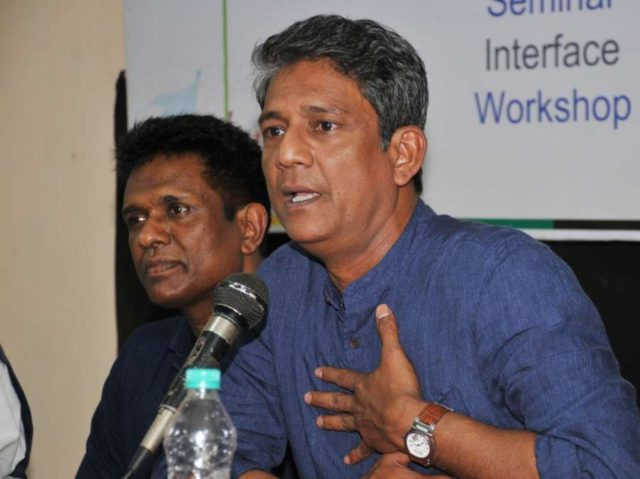 Guwahati: Actor Adil Hussain addresses during a masterclass during the 8th Theatre Olympics at Srimanta Sankardev Kalakshetra in Guwahati on March 17, 2018. (Photo: IANS) by .