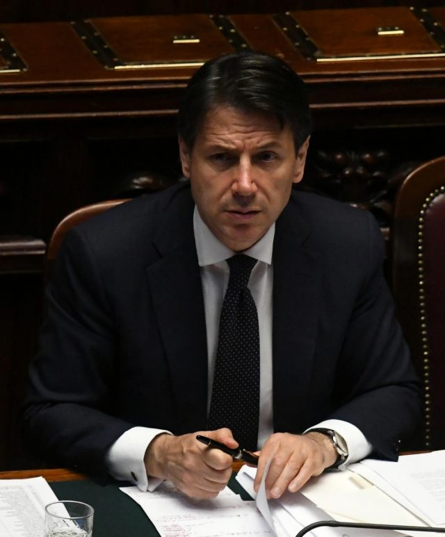 ROME, June 6, 2018 (Xinhua) -- Italian Prime Minister Giuseppe Conte is seen in the lower house of Italy's parliament in Rome, Italy, on June 6, 2018. The new Italian government cleared its second administrative hurdle on Wednesday, winning a confidence vote in the lower house of Italy's parliament. (Xinhua/Alberto Lingria/IANS) by .