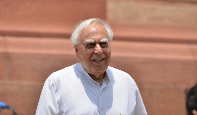 New Delhi: Congress MP Kapil Sibal at Parliament, in New Delhi on Aug 9, 2018. (Photo: IANS) by .