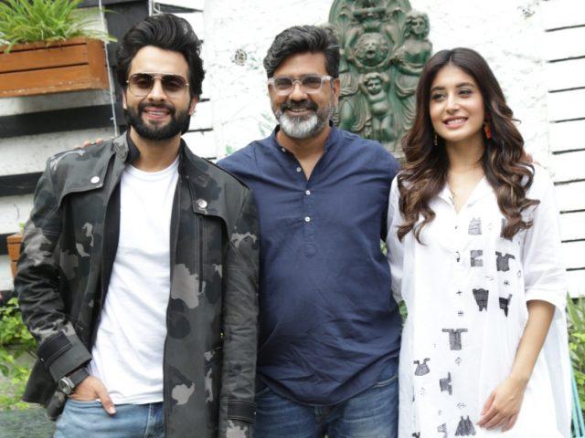 New Delhi: Director Nitin Kakkar, actors Jackky Bhagnani and Kritika Kamra during the promotion of their upcoming film