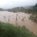 Kodagu: A view of the flood-hit Kodagu district of Karnataka on Aug 20, 2018. About 4,320 marooned people have been rescued till Monday morning in flood-hit Kodagu district in Karnataka as the rescue work entered its final stage in search of nearly 50 persons reportedly missing or stranded. (Photo: IANS/DPRO) by .