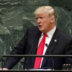 UNITED NATIONS, Sept. 25, 2018 (Xinhua) -- U.S. President Donald Trump addresses the General Debate of the 73rd session of the United Nations General Assembly at the UN Headquarters in New York, on Sept. 25, 2018. (Xinhua/Li Muzi/IANS) by .