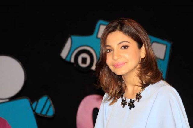 Mumbai: Actress Anushka Sharma shoots for Disney channel chat show Captain Tiao in Mumbai on 30th November, 2014 (Photo: IANS) by .