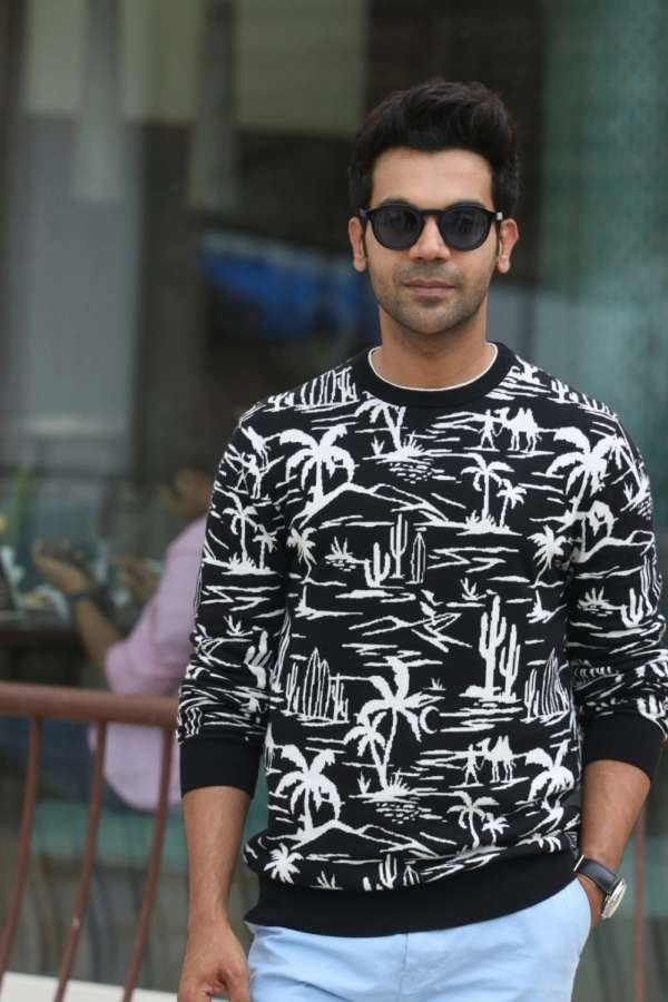 "Mumbai: Actor Rajkumar Rao at media interactions during the promotion of his upcoming film ""Fanney Khan"", in Mumbai on July 21, 2018. (Photo: IANS) by ."