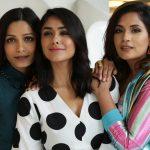 "New Delhi: Actresses Mrunal Thakur, Freida Pinto and Richa Chadda during a promotional photoshoot for their upcoming film ""Love Sonia"", in New Delhi on Sept 13, 2018. (Photo: Amlan Paliwal/IANS) by ."
