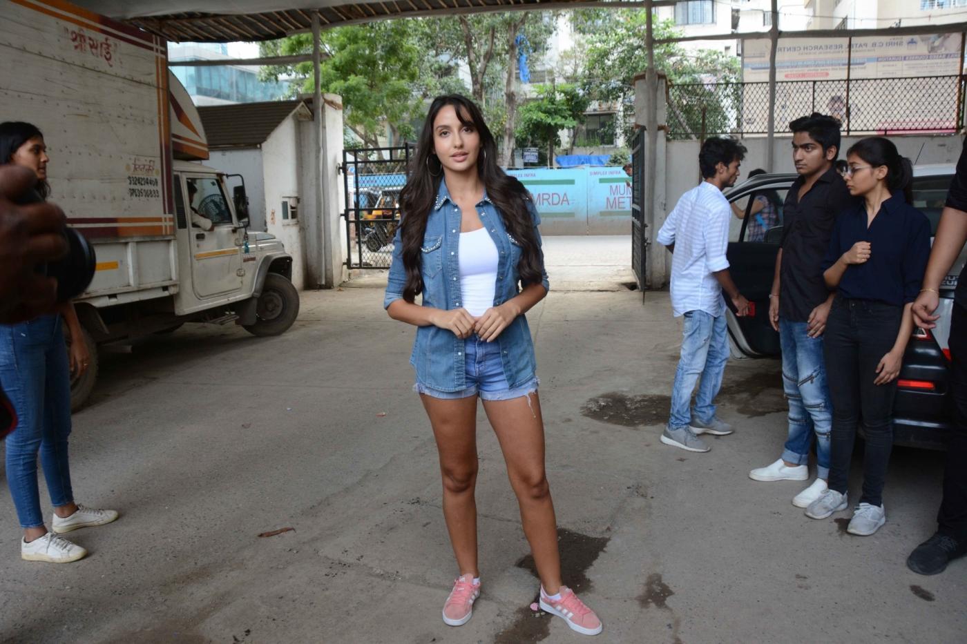 Mumbai: Actress Nora Fatehi during a social programme in Mumbai on Sept 5, 2018. (Photo: IANS) by .