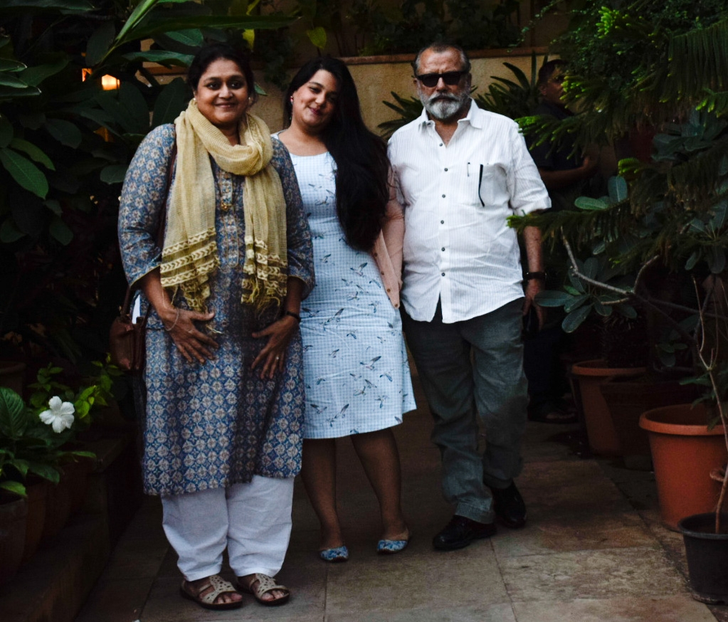 Mumbai: Actor Pankaj Kapoor along with his wife Supriya Pathak and daughter Sanah Kapoor seen at actor Shahid Kapoor's residence in Juhu, Mumbai on Sept 7, 2018. (Photo: IANS) by .