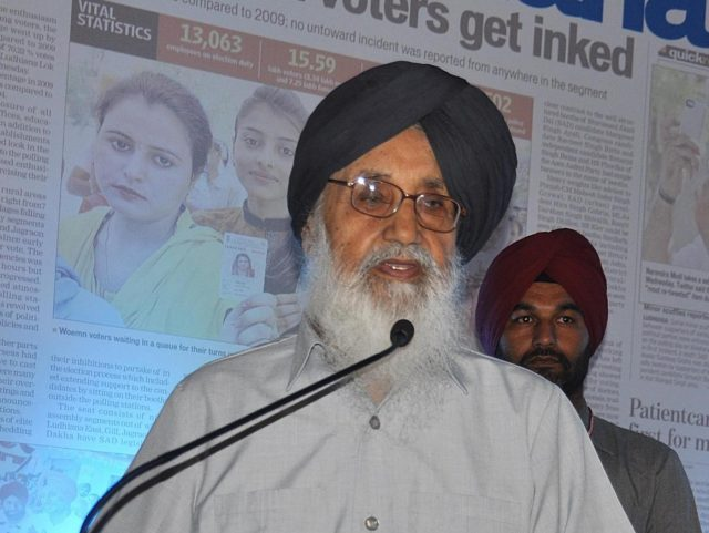 Shiromani Akali Dal (SAD) leader Parkash Singh Badal. (File Photo: IANS) by .