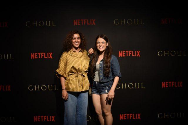 Mumbai: Actresses Sanya Malhotra and Radhika Madan at the black carpet premiere of horror series