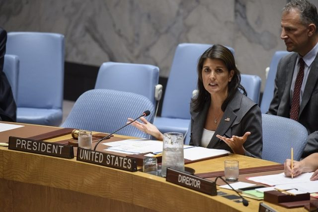 United States Permanent Representative Nikki Haley, who is the President of the Security Council for September, presides over its session on Tuesday, September 4, 2018. (Photo: UN/IANS) by .