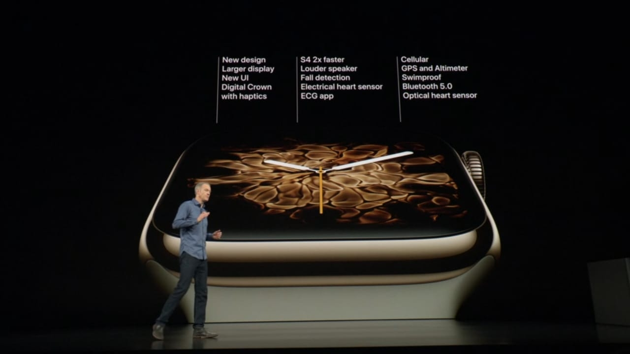Apple unveiled its new Apple Watch Series 4 with improved health features at an event where the Cupertino-based company officially introduced its 2018 line-up of iPhones -- the premium iPhone XS, iPhone XS Max and iPhone XR at an event in California late on Wednesday. The device brings a design overhaul to the Apple Watch as the iPhone-maker is now using a new dual-core 64-bit chipset, custom designed to improve performance. Apart from heartbeat data, the devices would now also track heart rhythm and notify users. The new series has been approved by FDA for ECG recording as well but this feature would be limited to only US-based users initially. by .