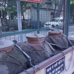 A Matka stand installed by 69-year-old Alagarathanam Natarajan in Delhi. by .