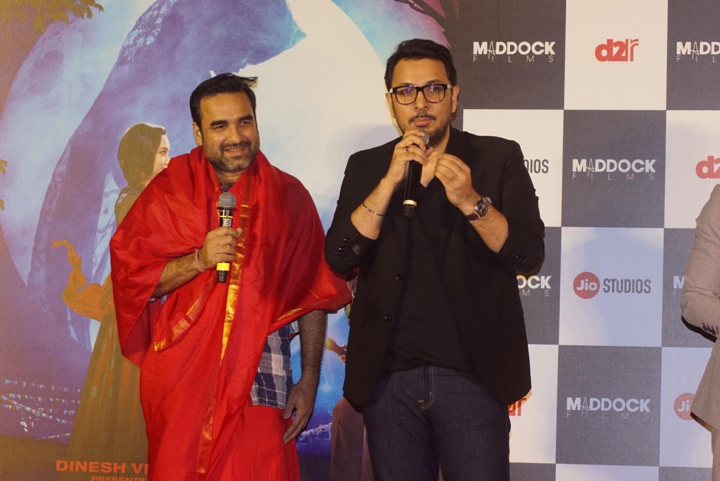 Mumbai: Actors Pankaj Tripathi and producer Dinesh Vijan at the trailer launch of their upcoming film