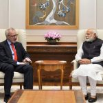 New Delhi: European Investment Bank President Dr. Werner Hoyer calls on Prime Minister Narendra Modi in New Delhi on March 31, 2017. (Photo: IANS/PIB) by .