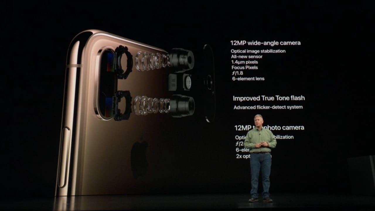 Apple officially introduced its 2018 line-up of iPhones -- the premium iPhone XS, iPhone XS Max and iPhone XR at an event in California late on Wednesday. The premium iPhone XS and XS Max come with upgraded 12MP + 12MP camera and 2x optical zoom. There is an improved TrueTone quad-LED flash as well. Both the models have a 7MP RGB camera sensor in the front with F/2.2 aperture while the iPhone XR has a single 12MP camera at the rear. by .