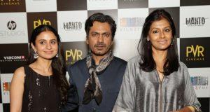 "New Delhi: Actors Rasika Dugal, Nawazuddin Siddiqui and director Nandita Das during a press conference regarding their upcoming film ""Manto"", in New Delhi on Sept 19, 2018. (Photo: Amlan Paliwal/IANS) by ."