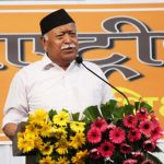 "Nagpur: RSS chief Mohan Bhagwat addresses at the concluding function of ""Tritiya Varsh Varg"" in Nagpur on June 7, 2018. (Photo: IANS) by ."