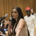 UNICEF Goodwill Ambassador Lilly Singh speaks at the high-level event on Youth2030, at the United Nationson Monday, Sept. 24, 2018. (Photo: UN) by .