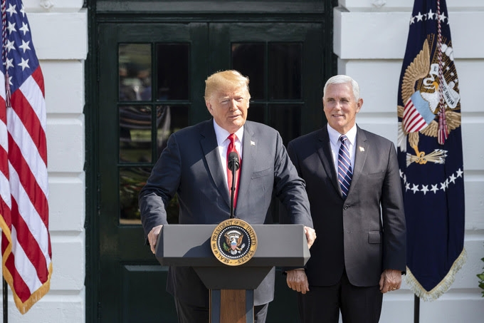 United States President Donald Trump and Vice President Mike Pence. (Photo: White House/IANS) by .