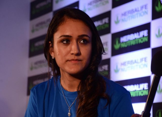 New Delhi: Table tennis player Manika Batra during a programme, in New Delhi on Sept 20, 2018. (Photo: IANS) by .
