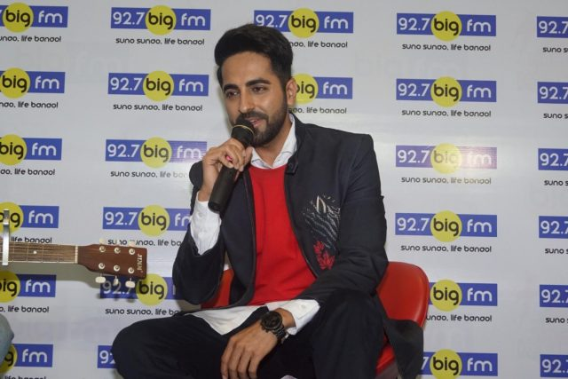 Mumbai: Actor-singer Ayushmann Khurrana pays tribute to late singer Kishore Kumar ahead to his birth anniversary in Mumbai on July 30, 2018.(Photo: IANS) by .