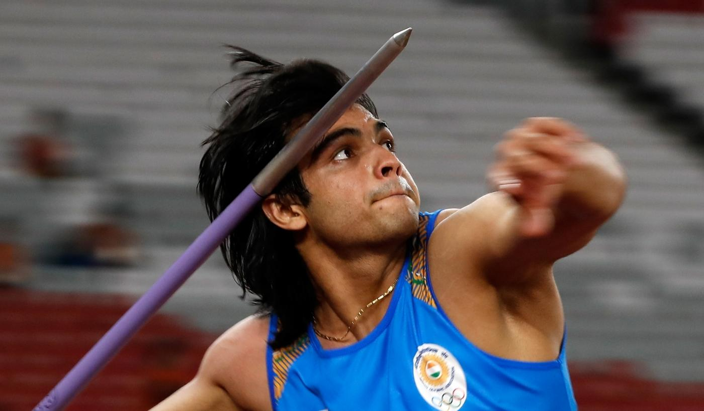 JAKARTA, Aug. 27, 2018 (Xinhua) -- Neeraj Chopra of India competes during the men's javelin throw final of athletics at the Asian Games 2018 in Jakarta, Indonesia on Aug. 27, 2018. (Xinhua/Wang Lili/IANS) by .