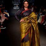 Mumbai: Actress Rasika Dugal walks the ramp as the showstopper for the label Vriksh by designer Gunjan Jain at the Lakme Fashion Week Winter/ Festive 2018 in Mumbai on Aug 23, 2018. (Photo: IANS) by .