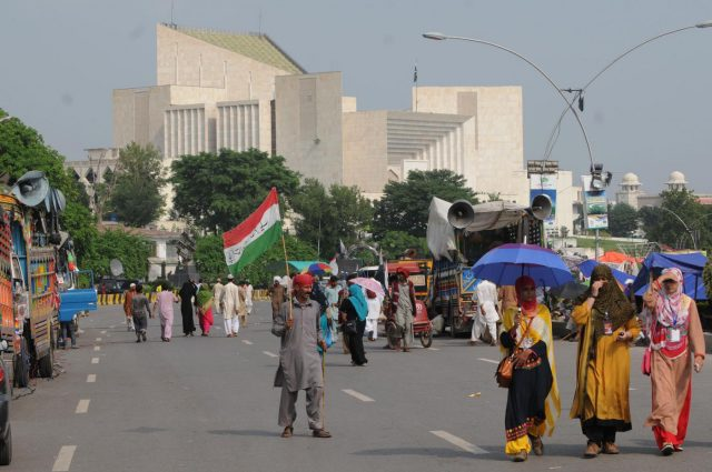 (WORLD SECTION) PAKISTAN-ISLAMABAD-PROTEST-MARCH by .