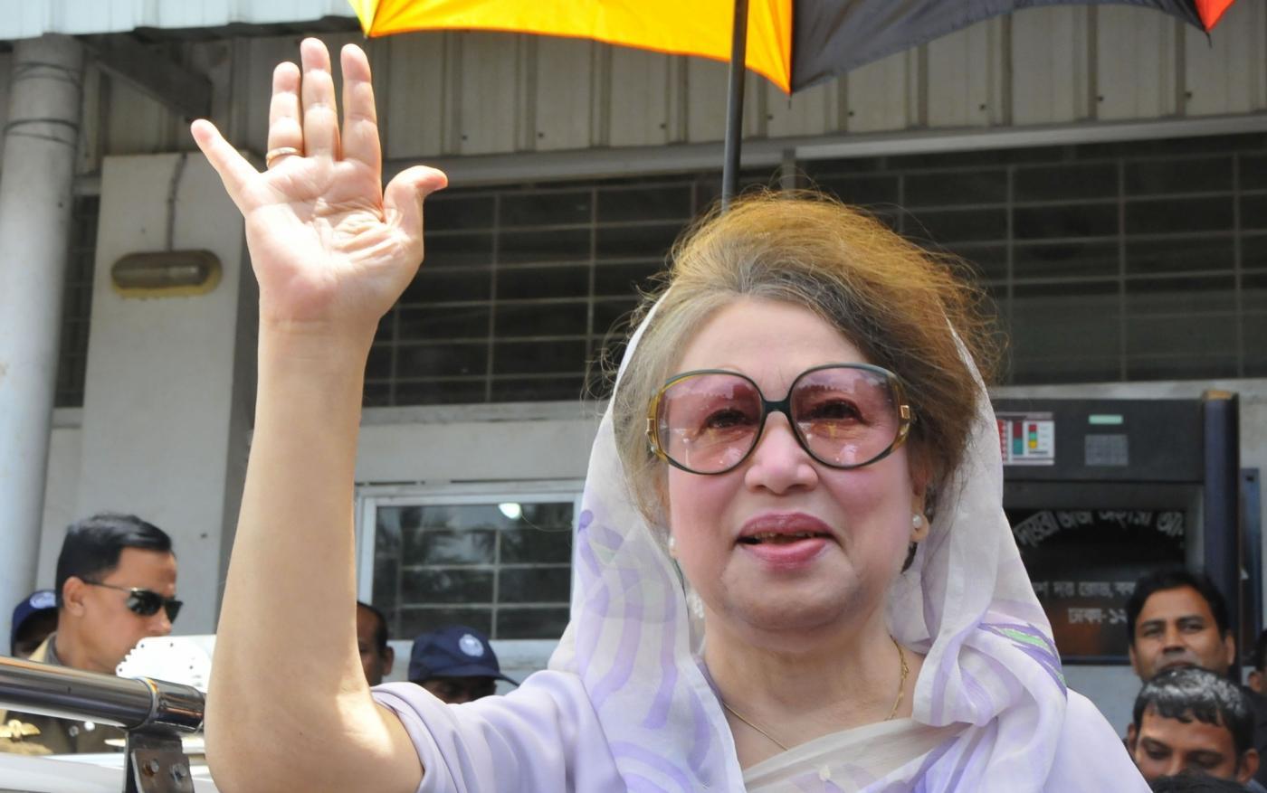 Bangladesh Nationalist Party (BNP) Chairperson Khaleda Zia. (File Photo: IANS) by .
