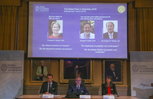 SWEDEN-STOCKHOLM-NOBLE PRIZE-CHEMISTRY-ANNOUNCEMENT by .