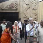 Kolkata: US Ambassador to India Kenneth I. Juster and U.S. Consul General in Kolkata Patricia Hoffman during their visit to the Tridhara Sammilani Durga Puja pandal, in Kolkata on Oct 13, 2018. (Photo: Kuntal Chakrabarty/IANS) by .