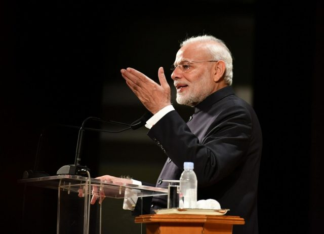 Tokyo: Prime Minister Narendra Modi addresses the Indian community in Tokyo, Japan, on Oct 29, 2018. (Photo: IANS/PIB) by .