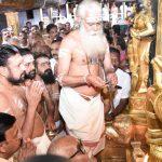 Pathanamthitta: The melsanthi (head priest), A.V. Unnikrishnan Namboodiri during opening of Sabarimala temple during Thulam Pooja at Sabarimala Temple in Kerala's Pathanamthitta district on Oct 17, 2018. (Photo: IANS) by .